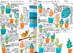 Format for technique practice #copic #art #journal @By Geninne