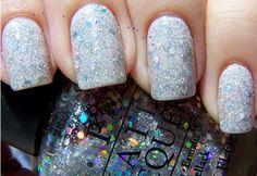 christmas nails, snow color, party nails, parti nail, christma nail