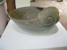 clay, shell, bowl, curl