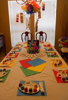 cute party idea for kids...well Ryan is an artist! lol