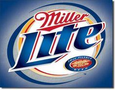 Miller Lite Brushed Metal Tin Sign, $8.95