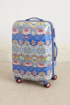hardshel suitcas, style, blue bon, bag, vivant hardshel, travel accessories, anthropologie, suitcases, bon vivant