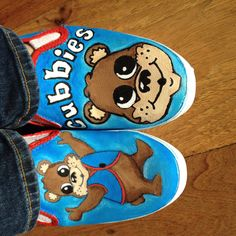 Hand painted AWANA Cubbies shoes