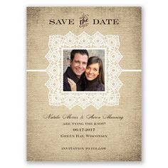 Country Lace - Save the Date
