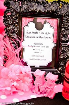 Minnie Mouse girl birthday party invitation. | CatchMyParty.com