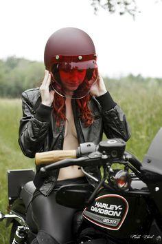 motorcycles, moto girl, harley davidson, red, helmets, bubbles, motorcycle girls, motorcycl girl, cafe racers