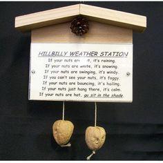 hillbilly crafts | Convent Crafts / Hillbilly weather station novelty gag gift