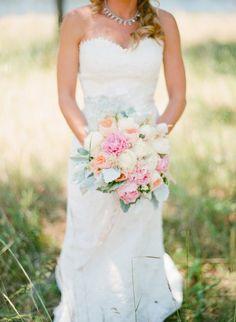 peonies, juliet garden rose and dusty miller.