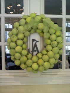 tennis ball wreath