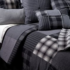 Charming Tailored Patchwork Dublin Plaid Duvet Cover