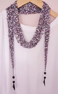 the Creations of Crazy Dazy - Ladder Ribbon Long Scarf