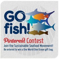 Celebrate National Seafood Month the sustainable way by pinning your favorite ocean-friendly recipes, cookbooks, chefs and more!    Share your GO FISH Pinterest board with us and you could win an awesome gift basket. Details here: http://on.fb.me/QHEkoZ