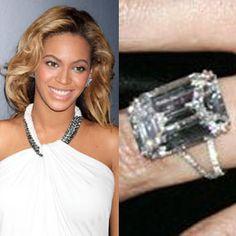 Beyonce's 18 carat engagement ring  #beyonce #splitshank #engagement #engagementrings #jewelry #artdeco #weddings #celebrity