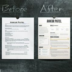 One-page resume revamp.
