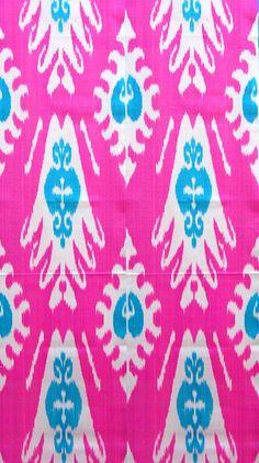 pink + blue ikat