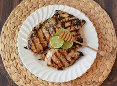 Honey lime grilled c