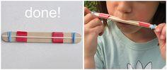 Popsicle stick harmonica tutorial
