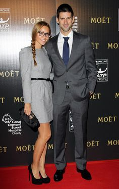 Jelena Ristic and Novak Djokovic at the ATP World Tour Finals Gala