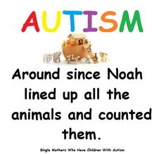AUTISM - around since Noah lined up all the animals & counted them!