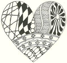 Zentangle Heart.