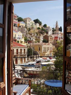 Beautiful view from a balcony - Symi