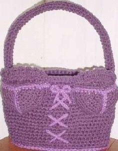 Free Crochet Bra Bag Pattern