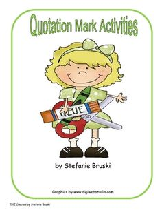 Great activities and worksheets to teach and reinforce  quotation marks.  There are a total of 16 pages. There are two interactive cut and paste ac...