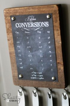 kitchen printable. I'm always looking up measuring conversions so this is perfect! And FREE