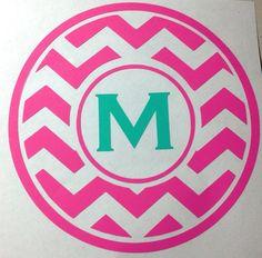 monogram car, chevron monogram, vinyl chevron, car decals