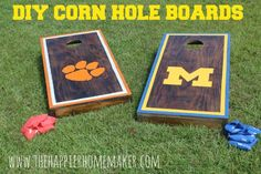 diy corn hole boards. I've been looking for a great step by step for this!