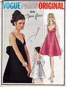 60s Vogue Paris Original Sewing Pattern by allthepreciousthings, $95.00