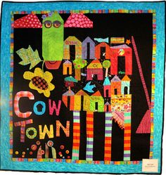 cow quilt, thing quilt, quilti thing, town quilt, quilt idea, quilt hors