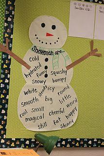 adjective snowman
