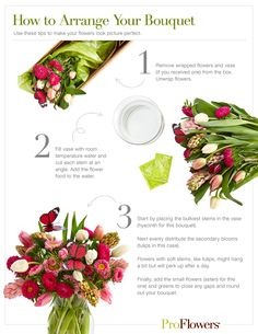 Make your flowers beautiful with these tips for arranging a bouquet. Download and print!