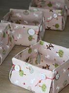 little boxes, box tutori, button, basket, fabric boxes