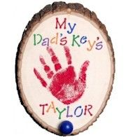 key hook, handprint crafts for dad, homemade gifts for fathers day, fathers day crafts from, father day