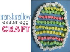Marshmallow Easter Egg- We are doing this today in our at home preschool class. I bought some of those Easter shaped marshmallows and until right this second had no idea what to do with them.
