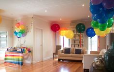 Rainbow Party - BIG Balloons