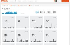 Exercise Training Calendar data dashboard by Strava