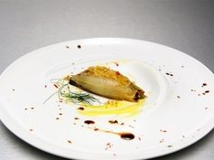 Richard Blais' Pressure Cooked Onion, Nitro Fried Fennel & Parsley, Raisins, Pine Nuts, Peppers, Smoked Mayonnaise