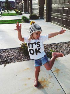 """""""IT'S OK"""" kids tee     by: It's Ok Apparel #tinystyle #kidsfashion"""