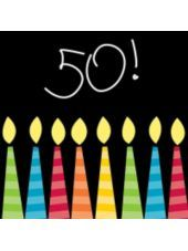 Great 50th Birthday Beverage Napkins 16ct-Party City