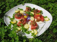 Mozzarella mit Tomatenpesto