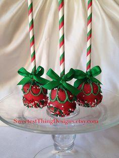 Christmas style Marshmallow Pops