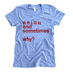 Love this shirt!  Definitely reminds me of my time working at the Writing Center during college