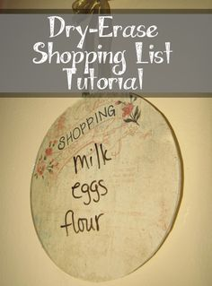How to Make a Dry-Erase Shopping List
