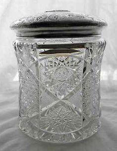 Rare American Brilliant Cut Glass Biscuit Jar.