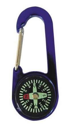 Compass and Thermometer Carabiner Camping Emergency Gear Survival