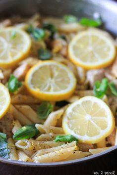 1100 kcal balanced menu - main dish - lunch - One Pan Lemon Garlic Chicken Pasta