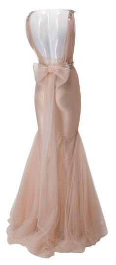 zahavit tshuba gown // blush // back